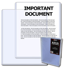 8.5 X 11 - Document Topload Holder - Pack of 25