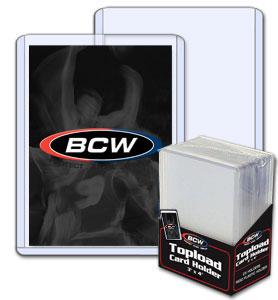 BCW 3 X 4 Topload Card Holder - Standard 12 Mil - Pack of 25