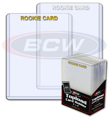 BCW 3 X 4 Topload Card Holder - Rookie Imprinted Gold - Pack of 25