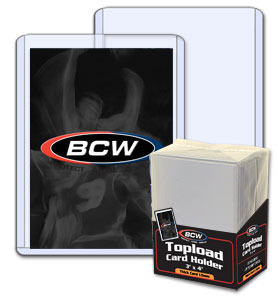 BCW 3 X 4 X 1.5 mm - Action Packed Topload Card Holder - 59 Pt. - Pack of 25
