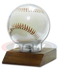 Woodbase Baseball Holder (Real Walnut)