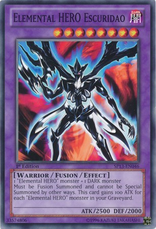 Elemental HERO Escuridao - SP13-EN046 - Common - Unlimited Edition