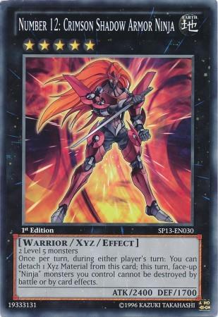 Number 12: Crimson Shadow Armor Ninja - SP13-EN030 - Common