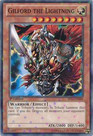 Gilford the Lightning - SP13-EN040 - Starfoil Rare - 1st Edition