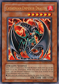 Chthonian Emperor Dragon - TAEV-EN019 - Ultra Rare - 1st Edition