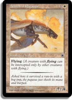 Armored Pegasus (Flavor Text + Reminder Text)