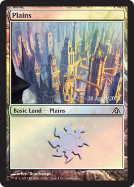 Plains - Dragons Maze Implicit Maze Foil - Prerelease Promo