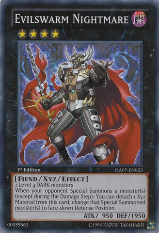 Evilswarm Nightmare - HA07-EN023 - Super Rare - 1st