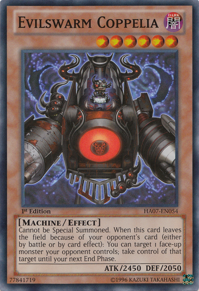Evilswarm Coppelia - HA07-EN054 - Super Rare - 1st Edition