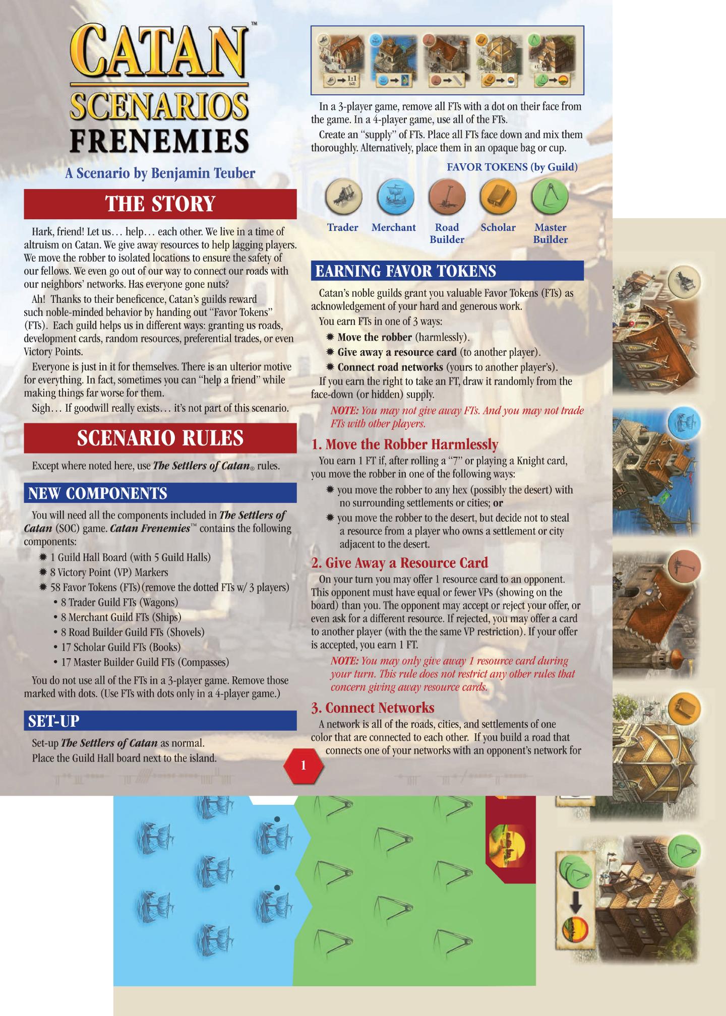 Catan Scenarios: Frenemies of Catan - Board Games - The Toy