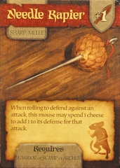 Mice and Mystics: Needle Rapier