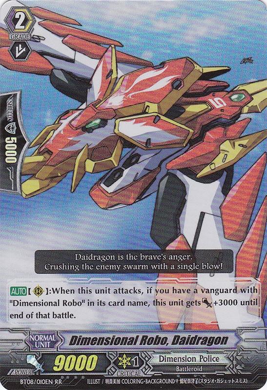 Dimensional Robo, Daidragon - BT08/010EN - RR