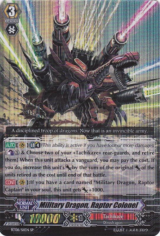 Military Dragon, Raptor Colonel - BT08/S11EN - SP