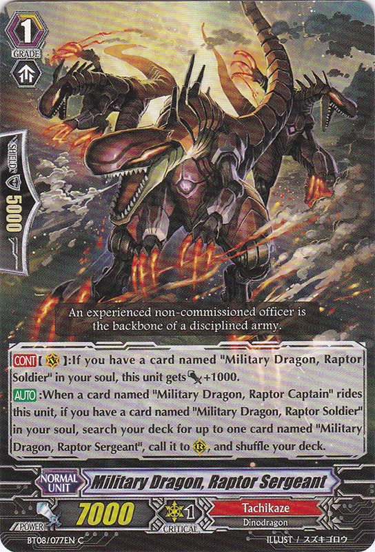 Military Dragon, Raptor Sergeant - BT08/077EN - C
