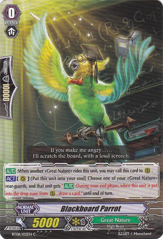 Blackboard Parrot - BT08/102EN - C