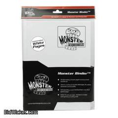 9-Pocket Monster Binder - White w/ White Pages