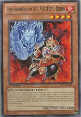 Brotherhood of the Fire Fist - Rhino - LTGY-EN028 - Rare - 1st Edition