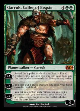 Garruk, Caller of Beasts - Foil