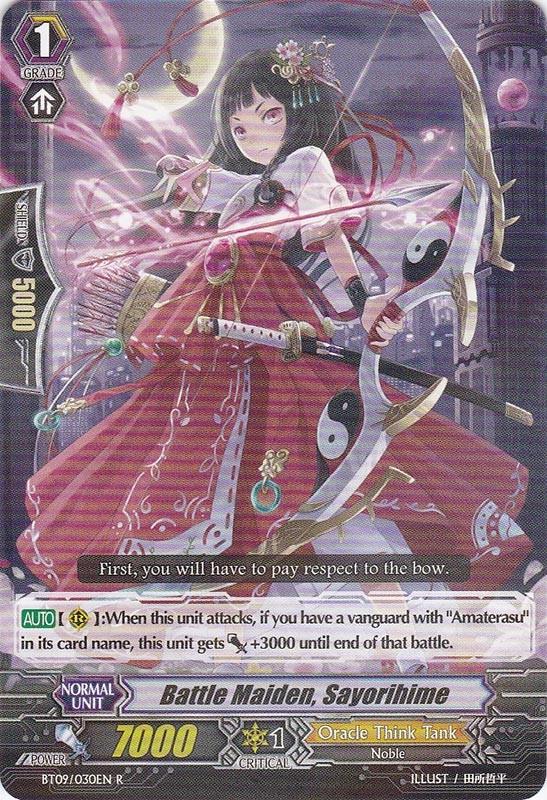 Battle Maiden, Sayorihime - BT09/030EN - R