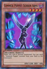 Gimmick Puppet Scissor Arms - NUMH-EN008 - Super Rare - 1st Edition on Channel Fireball