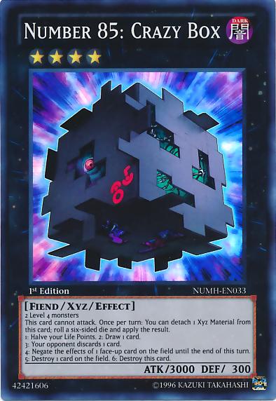 Number 85: Crazy Box - NUMH-EN033 - Super Rare - 1st Edition