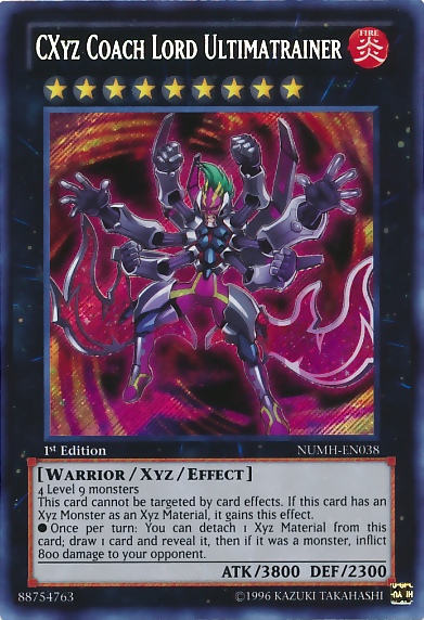 CXyz Coach Lord Ultimatrainer - NUMH-EN038 - Secret Rare - 1st Edition