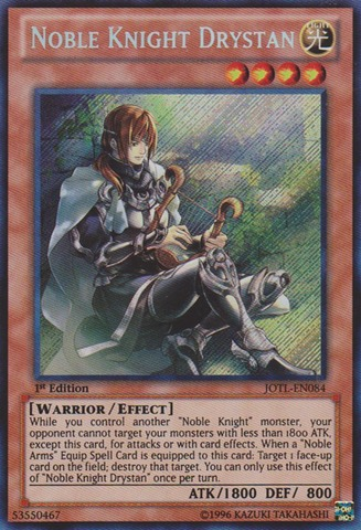 Noble Knight Drystan - JOTL-EN084 - Secret Rare - 1st Edition