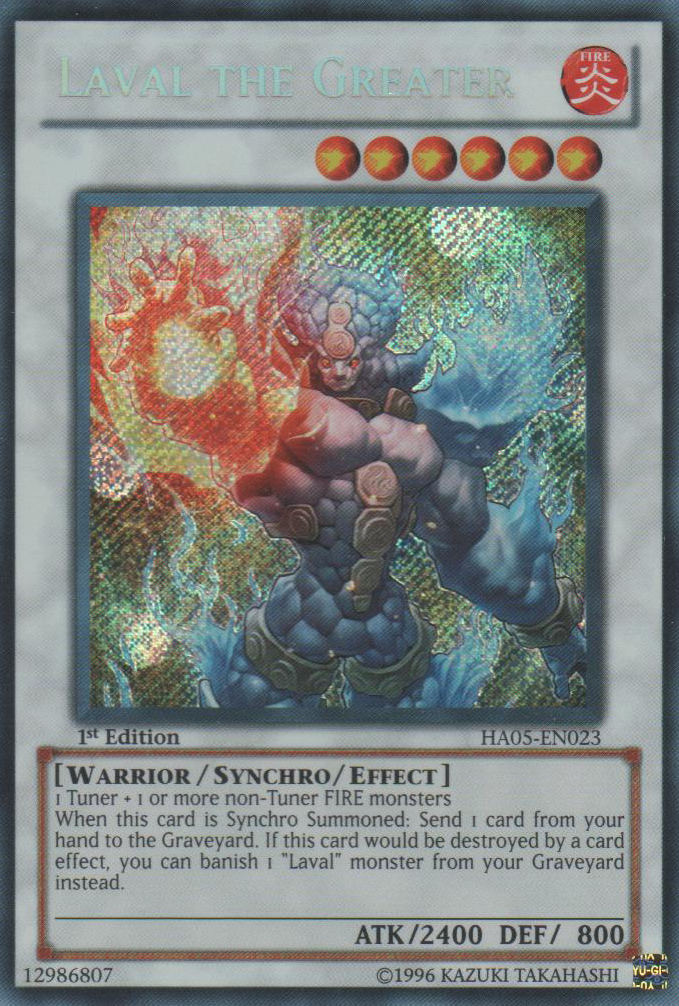 HA05-EN022 Lavalval Dragon Secret Rare 1st Ed Yu-Gi-Oh