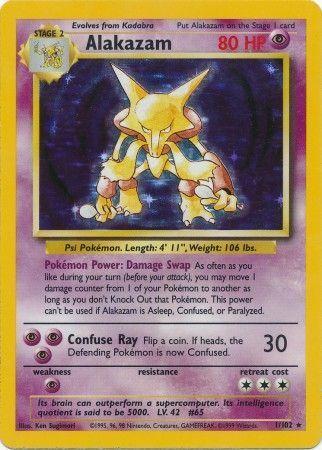 Alakazam - 1/102 - Holo Rare - Unlimited Edition
