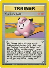 Clefairy Doll - 70/102 - Rare - Unlimited Edition