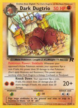 Dark Dugtrio - 23/82 - Rare - Unlimited Edition
