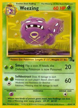 Weezing - 45/62 - Uncommon - Unlimited Edition