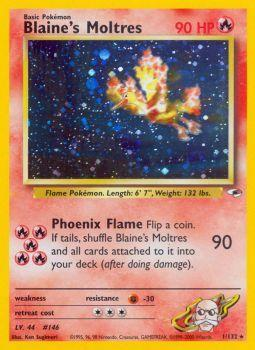 Blaines Moltres - 1/132 - Holo Rare - Unlimited Edition
