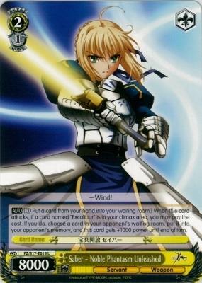 Saber - Noble Phantasm Unleashed - FZ/S17-E015 - U