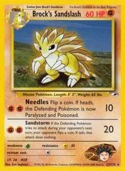 Brock's Sandslash - 23/132 - Rare - Unlimited Edition