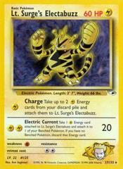 Lt. Surge's Electabuzz - 27/132 - Rare - Unlimited Edition