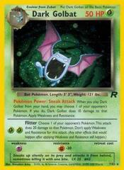 Dark Golbat - 7/82 - Holo Rare - Unlimited Edition