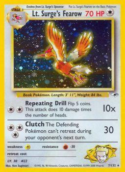 Lt. Surges Fearow - 7/132 - Holo Rare - Unlimited Edition