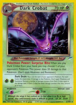 Dark Crobat - 2/105 - Holo Rare - Unlimited Edition