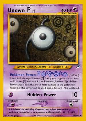 Unown [P] - 58/105 - Uncommon - Unlimited Edition