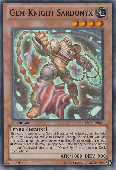 Gem-Knight Sardonyx - HA07-EN001 - Super Rare - Unlimited Edition