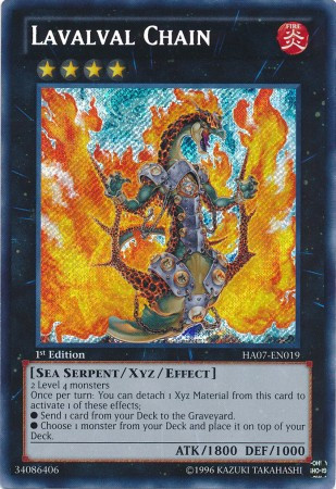 Lavalval Chain - HA07-EN019 - Secret Rare - Unlimited Edition