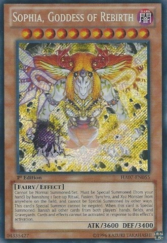 Sophia, Goddess of Rebirth - HA07-EN055 - Secret Rare - Unlimited Edition