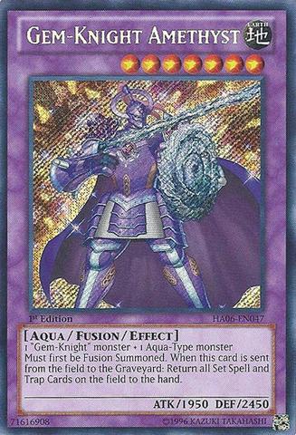 Gem-Knight Amethyst - HA06-EN047 - Secret Rare - Unlimited Edition