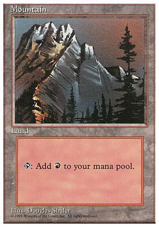 Mountain (183 - Grey Mountain / Red Sky)