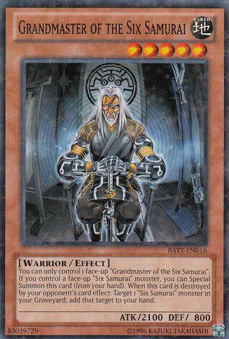 Grandmaster of the Six Samurai - BATT-EN016 - Starfoil Rare - Unlimited Edition