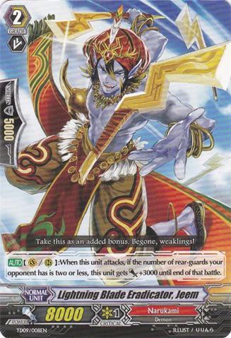 Lightning Blade Eradicator, Jeem - TD09/008EN - TD