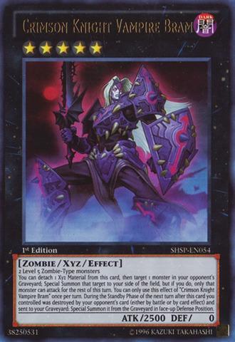 Crimson Knight Vampire Bram - SHSP-EN054 - Ultra Rare - 1st Edition