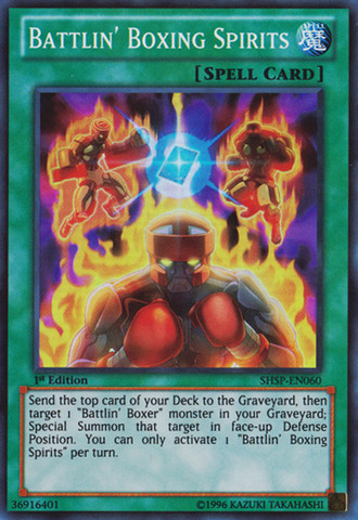 Battlin' Boxing Spirits - SHSP-EN060 - Super Rare - 1st Edition