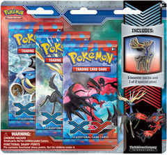 Pokemon XY 3-Booster Blister Pack - Xerneas Pin